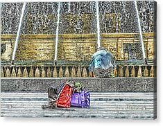 Genoa Sweet Hitchhiker In De Ferrari Square Acrylic Print by Enrico Pelos
