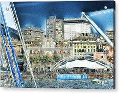 Genova Expo Area With Saint George Building Acrylic Print by Enrico Pelos