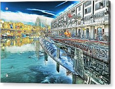 Genova Nazario Sauro Italian Navy U Boat At The Galata Sea Museum Acrylic Print