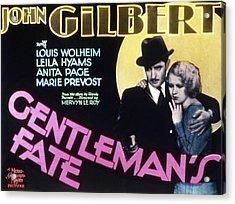 Gentlemans Fate, John Gilbert, Anita Acrylic Print by Everett