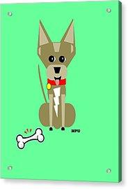 Geo Chihuahua Acrylic Print by Maria Urso