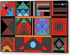 Geometric 2 Acrylic Print by Vilas Malankar