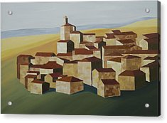 Geometric Village Spain Acrylic Print