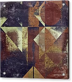 Geomix 04 - 6ac8bv2t7c Acrylic Print by Variance Collections