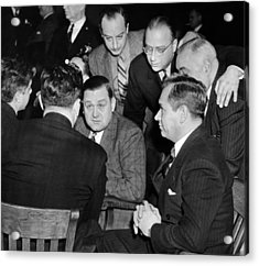George Bugs Moran On Trial For Forgery Acrylic Print by Everett
