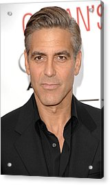 George Clooney At Arrivals For Oceans Acrylic Print by Everett