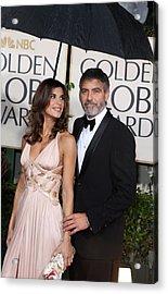 George Clooney, Elisabetta Canalis Acrylic Print by Everett