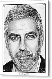 George Clooney In 2009 Acrylic Print by J McCombie