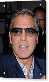 George Clooney, Leaves The Live With Acrylic Print by Everett