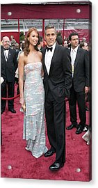 George Clooney, Sarah Larson Wearing Acrylic Print by Everett