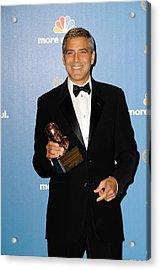 George Clooney Wearing Giorgio Armani Acrylic Print by Everett