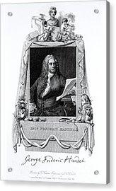 George Frideric Handel, German Baroque Acrylic Print by Omikron