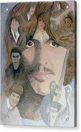 George Harrison Give Me Love Give Me Hope Acrylic Print by Christian Lebraux Kennedy