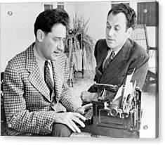 George S. Kaufman 1889-1961 Typing Acrylic Print by Everett