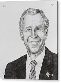 George W. Bush Acrylic Print by Daniel Young