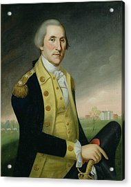George Washington At Princeton Acrylic Print by Charles P Polk