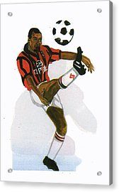 George Weah In Action Acrylic Print by Emmanuel Baliyanga