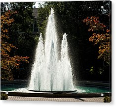 Georgia Herty Field Fountain On Uga North Campus Acrylic Print by Replay Photos