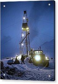 Geothermal Power Station Drilling Acrylic Print by Ria Novosti