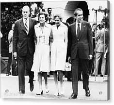 Gerald Ford Inauguration.  From Left Acrylic Print by Everett