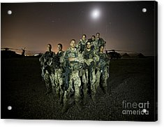 German Army Crew Poses Acrylic Print by Terry Moore
