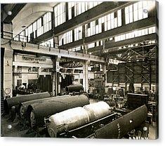 German Rocket Factory, 1943 Acrylic Print by Detlev Van Ravenswaay
