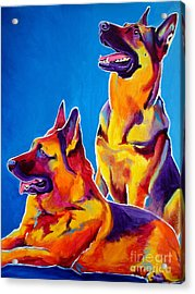 German Shepherd - Eiko And Erin Crop Acrylic Print by Alicia VanNoy Call