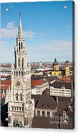 Acrylic Print featuring the photograph German Town Hall by Andrew  Michael