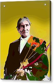 Acrylic Print featuring the mixed media Geronimo by Charles Shoup