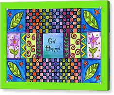 Get Happy Acrylic Print by Pamela  Corwin