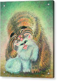 Get Yer Licks In Acrylic Print by Baron Dixon