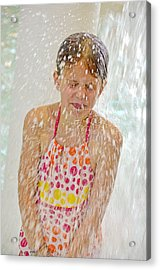 Getting Splashed Acrylic Print by Maria Dryfhout