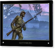 Gettysburg Battlefield Poster Acrylic Print by Randy Steele