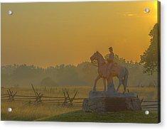 Gettysburg Morning Light Acrylic Print by Randy Steele
