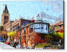 Ghirardelli Chocolate Factory San Francisco California . Painterly . 7d14093 Acrylic Print by Wingsdomain Art and Photography