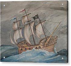 Ghost Pirate Ship Acrylic Print