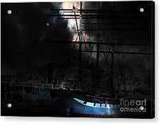 Ghost Ship Of The San Francisco Bay . 7d14032 Acrylic Print by Wingsdomain Art and Photography