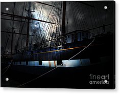 Ghost Ship Of The San Francisco Bay . 7d14153 Acrylic Print by Wingsdomain Art and Photography