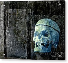 Ghost Skull Acrylic Print by Edward Fielding
