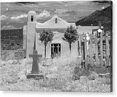Ghost Town Church Acrylic Print by Sonja Quintero