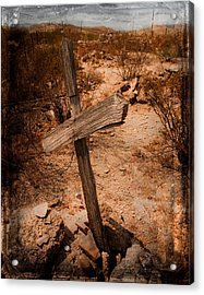 Ghost Town Cross Acrylic Print by Sonja Quintero