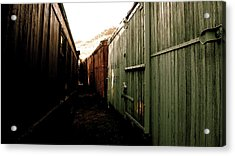 Ghost Train Yard Acrylic Print by Travis Burns