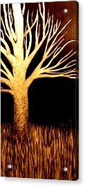Acrylic Print featuring the painting Ghost Tree by Monica Furlow