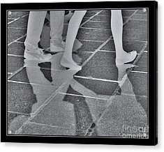 Acrylic Print featuring the digital art Ghost Walkers by Victoria Harrington