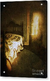 Ghostly Figure In Hallway Acrylic Print by Jill Battaglia
