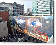 Giants Vs Patriots  Acrylic Print by Brittany H