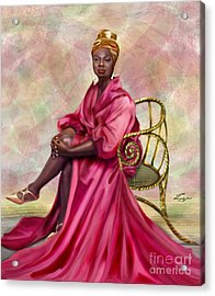 Gifted And Black-no Longer Looking Back Acrylic Print by Reggie Duffie