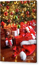 Gifts Under The Tree For Christmas Acrylic Print by Sandra Cunningham