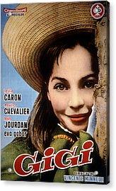Gigi, Leslie Caron, 1958, Poster Art Acrylic Print