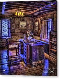Gillette Castle Office Hdr Acrylic Print by Susan Candelario